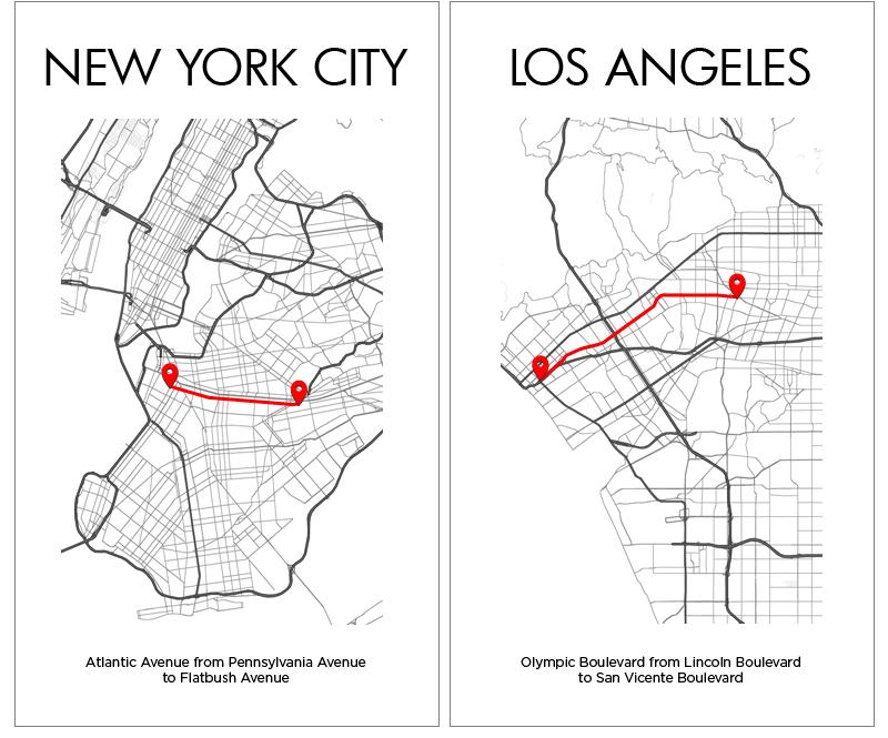 New York Los Angeles