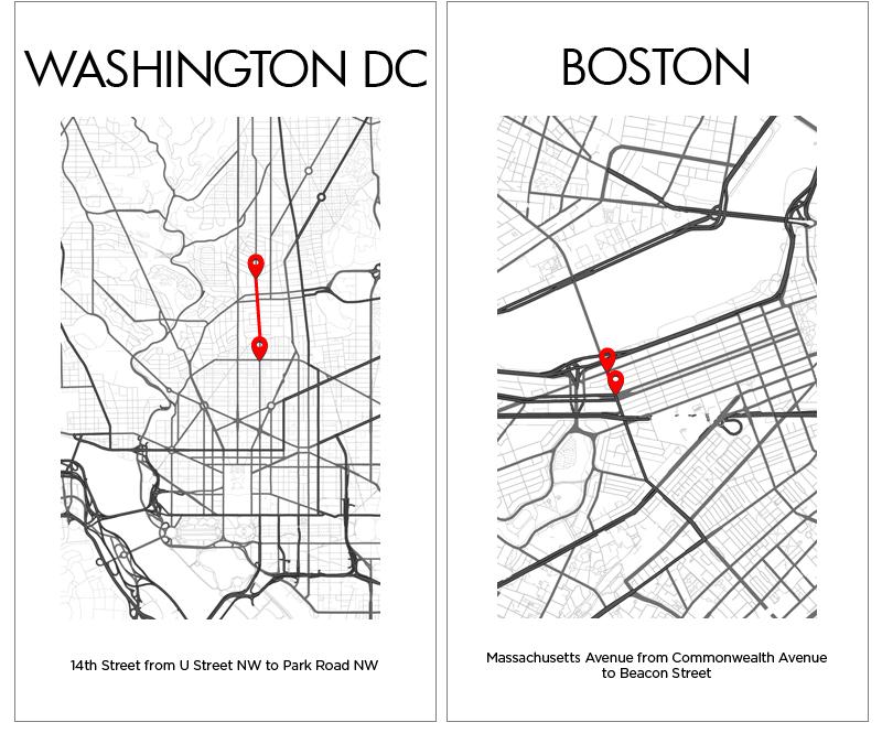 Washington DC Boston